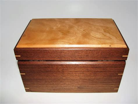 Handcrafted Wooden Box - small wood keepsake box cherry and walnut 7 5 quot x 4 75 quot x