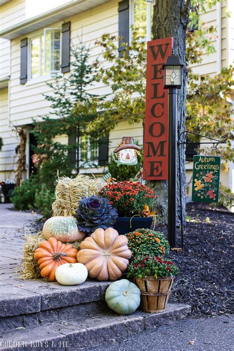 outdoor yard decorating ideas golden boys and me fall home tour 2016 outdoor fall decor ideas