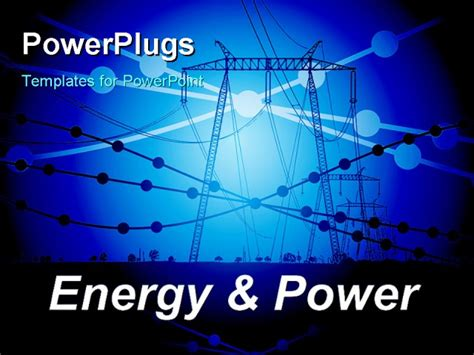 power presentation templates energy and power abstract vector illustration with