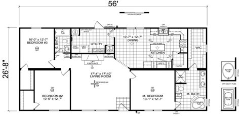 Fleetwood Manufactured Homes Floor Plans by Hamlin 28 X 56 1493 Sqft Mobile Home Factory Expo Home