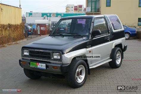 daihatsu feroza specifications 1993 daihatsu feroza sportrak car photo and specs