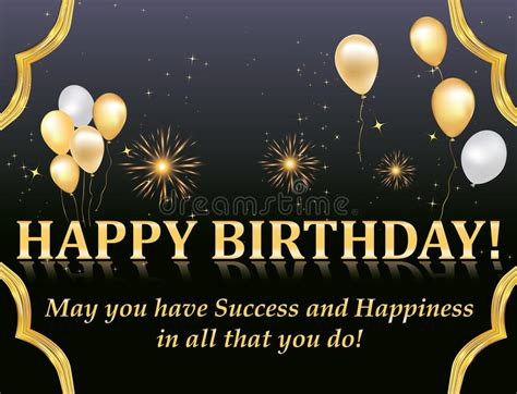happy birthday boss design happy birthday card stock vector illustration of shiny