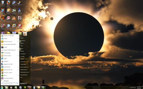 Eclipse Themes Moon | windows 7 theme moon eclipse by windowsthememanager on