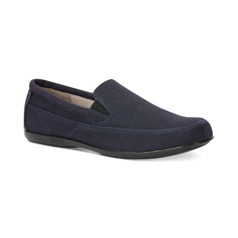 klein loafers calvin klein talon loafers in blue for navy lyst