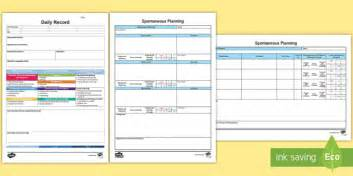 eyfs retrospective planning templates pack in the moment
