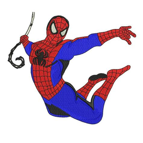 spiderman pattern design spiderman filled embroidery pattern 4 sizes machine embroidery