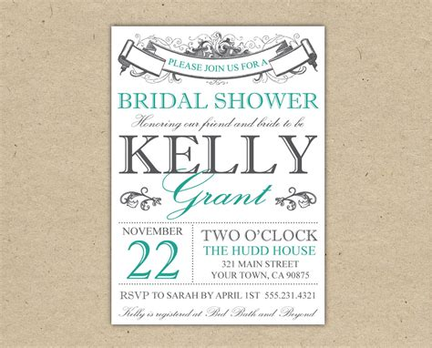 bridal shower invitations bridal shower invitations free printable templates