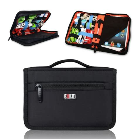 business style tablet case usb flash drive cable organizer