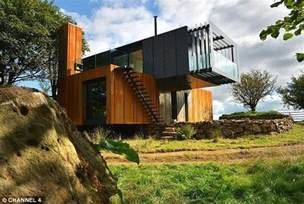 grand designs shipping container house built by farmer to