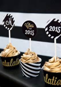 Decorative Cupcake Liners Black And Gold Graduation Party Graduation End Of