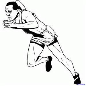 how to draw jesse owens step by step sports pop culture