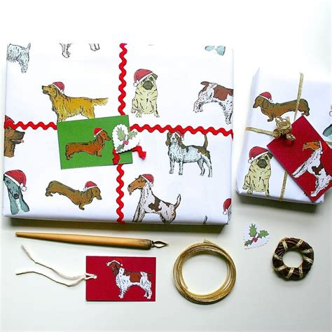 dog christmas wrapping paper gift set by goodnight