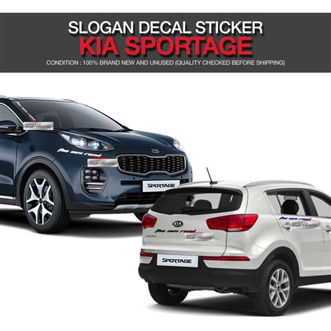 Sticker Striping Kia All New sportage logo slogan decals sticker cover 6color for kia 2017 2018 sportage ql ebay