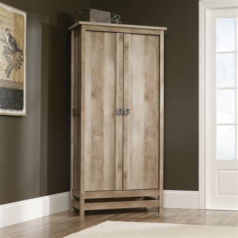 armoire with shelves and doors cannery bridge storage cabinet 416082 sauder