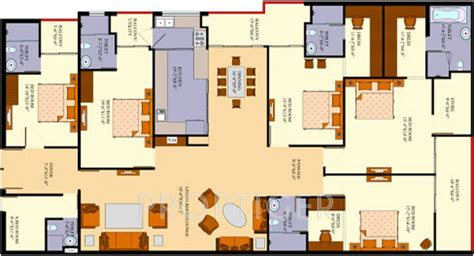 floor plans 3000 sq ft 3000 sq ft 5 bhk 5t apartment for sale in agi infra
