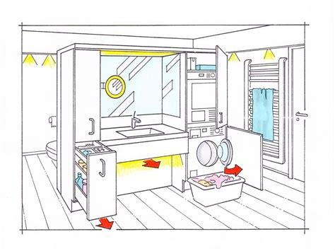 Kleines Bad Einrichten Waschmaschine by Badezimmer Mit Waschmaschine Und Trockner Keres 233 S