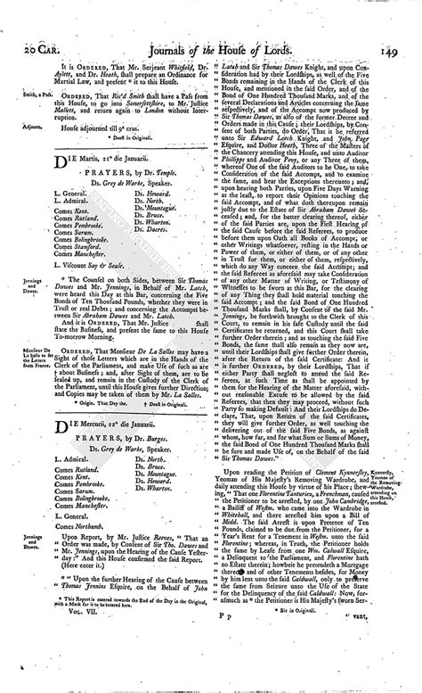 section 179 history house of lords journal volume 7 20 january 1645 british