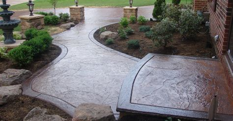 concrete sidewalk design decorative options for a concrete walkway the concrete network