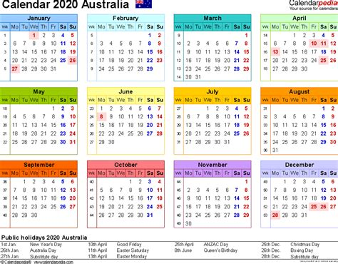 australian calendar template 2020 calendar printable related keywords 2020 calendar