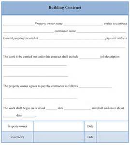 Building Contract Template contract template for building format of building