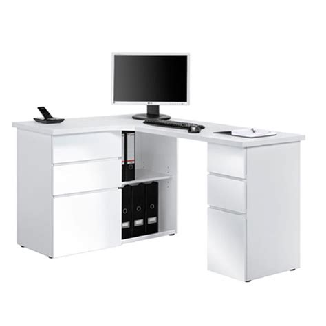 Oxford Computer Desk With Shelf by High Gloss Computer Desks Furniture In Fashion