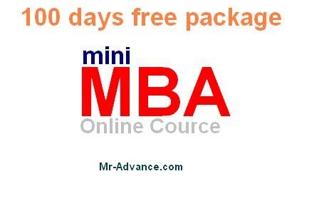 Free Mini Mba Course mr advance free mini mba course for 100 days