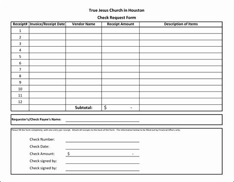 check receipt template excel 10 check request form template free sletemplatess