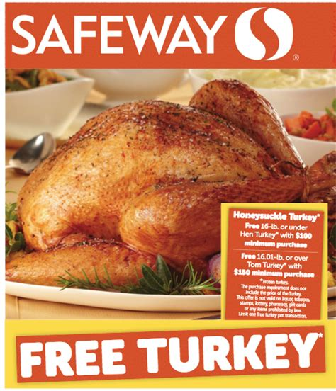 printable thanksgiving grocery coupons free thanksgiving turkey at safeway super safeway