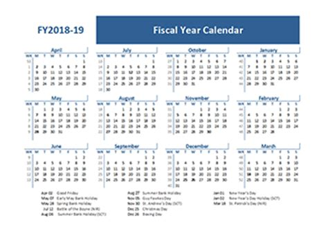 fiscal year calendar template 2018 fiscal year calendar template printable free templates