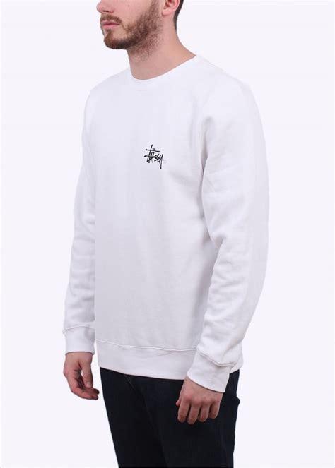 Sweater Wanita Basic White stussy basic logo sweater white stussy from triads uk