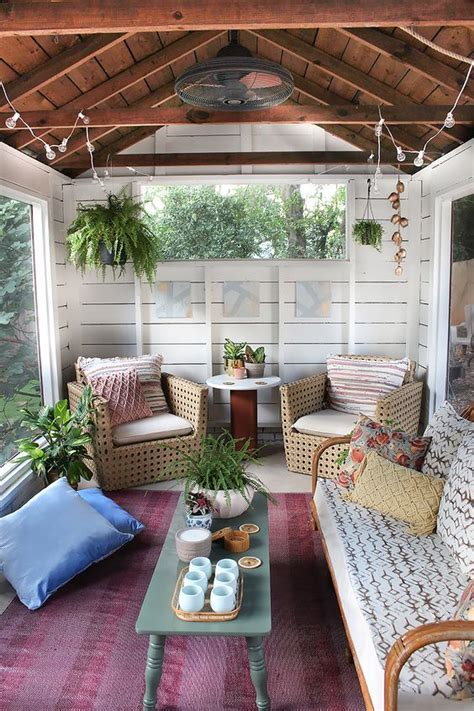 porch decorating ideas 27 screened and roofed back porch decor ideas shelterness