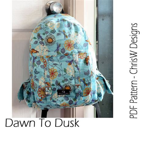 Handmade Backpack Pattern - backpack pdf sewing pattern rucksack to dusk by