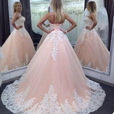 Pink White Wedding Dresses by Plus Size Arabic Light Pink Wedding Dresses 2017 New