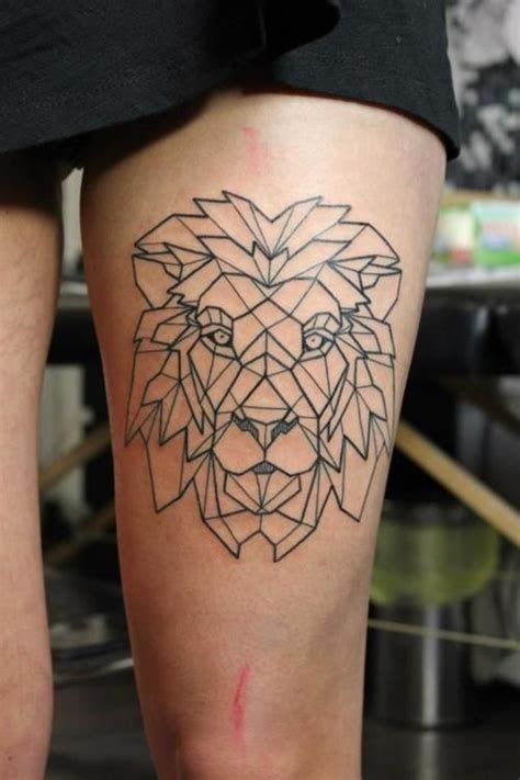 tattoo geometric lion 100 mysterious lion tattoo ideas to ink with
