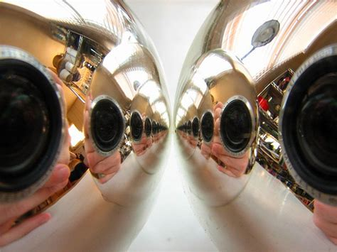 spherical mirror room 15 ornament reflection self portrait pictures