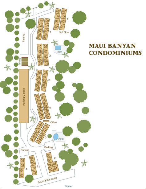 Floor Plan For Gym Maui Banyan Condo Information Grounds Maps Amenities