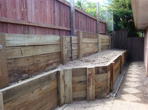 Treated Hardwood Sleepers by Australian Retaining Walls C C A H4 Treated Hardwood