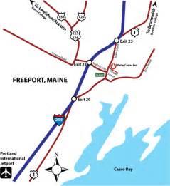 freeport map freeport maine map images