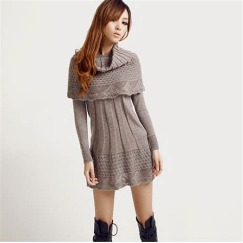 knit dress autumn winter s dress suit fashion style knit