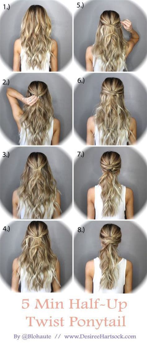 cute hairstyles work visor 22 easy half up hairstyle tutorials you have to try sock