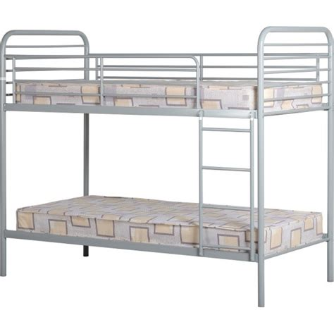 metal frame bunk beds cheap seconique bradley silver metal bunk bed frame for