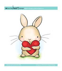 bunny love heart digital stamps