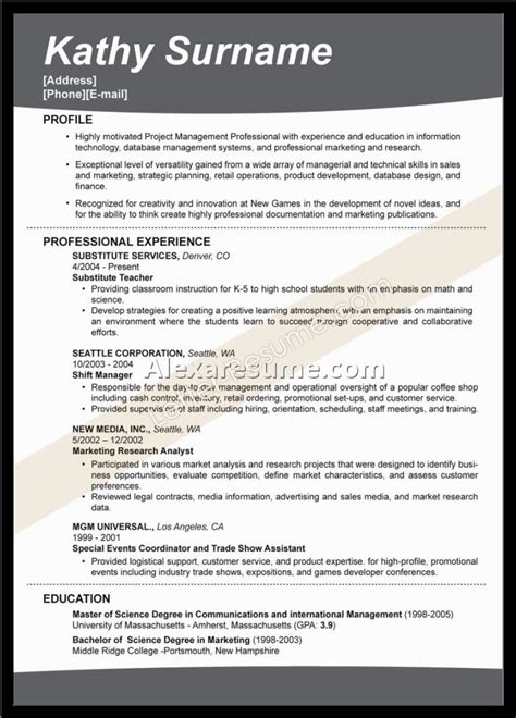 a great resume template resume template great exles of resumes that get