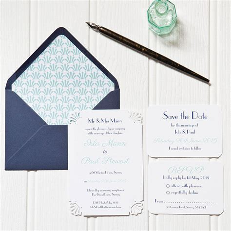 deco wedding stationery deco wedding stationery by elinor stationery design