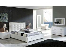 Bedroom Furniture Set White Modern Bedroom Set Valencia In White Made In Spain 33b241