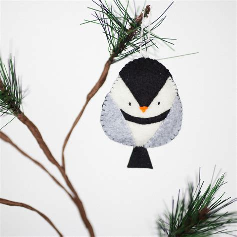 Handmade Bird Ornaments - handmade felt chickadee ornament decorative bird ornament
