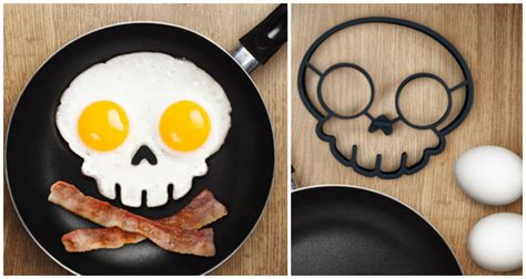 Skull Egg eat breakfast like a pirate with this skull crossbones
