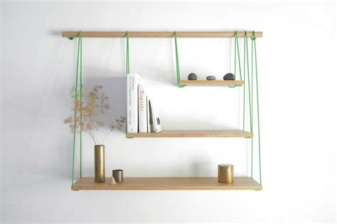 simple and elegant shelving unit inspired by suspension