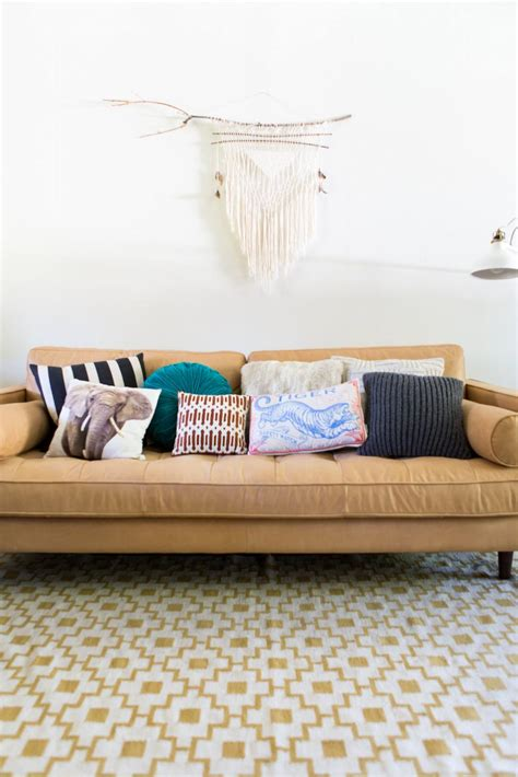 Sofa With Throw Pillows by How To Style Your Sofa Using Throw Pillows Simply Grove