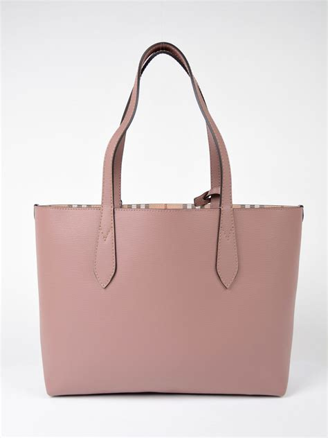 Burberry Tote by Burberry Burberry Small Reversible Tote Pink Purple